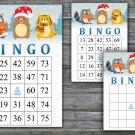 Christmas bingo game,Winter animals bingo,Christmas Party bingo,Holiday Bingo,INSTANT DOWNLOAD--21