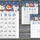 Christmas bingo game,Winter animals bingo,Christmas Party bingo,Holiday Bingo,INSTANT DOWNLOAD--22
