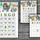 Christmas bingo game,Winter animals bingo,Christmas Party bingo,Holiday Bingo,INSTANT DOWNLOAD--23