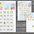 Christmas bingo game,animals train bingo,Christmas Party bingo,Holiday Bingo,INSTANT DOWNLOAD--27