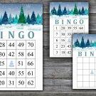 Christmas bingo game,winter forest bingo,Christmas Party bingo,Holiday Bingo,INSTANT DOWNLOAD--35