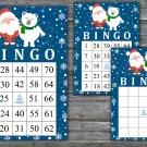 Christmas bingo game,Santa polar bear bingo,Christmas Party bingo,Holiday Bingo,INSTANT DOWNLOAD--37