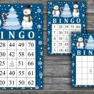Christmas bingo game,Snowman bingo,Christmas Party bingo,Holiday Bingo,INSTANT DOWNLOAD--38