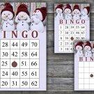 Christmas bingo game,Cute snowman bingo,Christmas Party ,Holiday Bingo,INSTANT DOWNLOAD--44