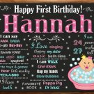 little princess 1st birthday poster,princess 1st birthday poster