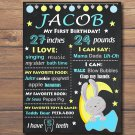 Cute bunny 1st birthday poster,bunny birthday poster,rabbit birthday poster