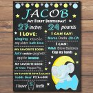 elephant 1st birthday poster,cute elephant birthday poster,baby elephant 1st birthday poster