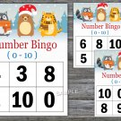 Bingo kids 0-10,Christmas Bingo Game,Winter animals Bingo Game,Number Bingo,INSTANT DOWNLOAD