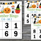 Bingo kids 0-10,halloween Bingo Game,halloween Bingo cards,Number Bingo,INSTANT DOWNLOAD