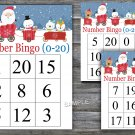 Bingo kids 0-20,Christmas Bingo Game,Christmas Bingo cards,Number Bingo,INSTANT DOWNLOAD