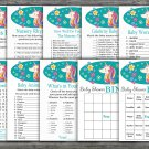 Unicorn baby shower games package,Unicorn baby shower games pack,9 Games,INSTANT DOWNLOAD-329
