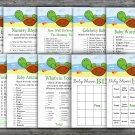 Turtle baby shower games package,Cute Turtle baby shower games pack,9 Games,INSTANT DOWNLOAD-334