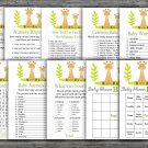 Giraffe baby shower games package,Safari baby shower games package,9 Games,INSTANT DOWNLOAD-337