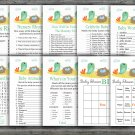 Birds and nest baby shower games package,Birds baby shower games pack,9 Games,INSTANT DOWNLOAD-338