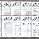 French Bulldog baby shower games package,Dog baby shower games package,9 Games,INSTANT DOWNLOAD-339