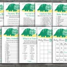 Dinosaur baby shower games package,Dino baby shower games package,9 Games,INSTANT DOWNLOAD-342