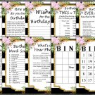 Black White Striped Birthday Game package,Adult Birthday Game,birthday party,9 GameINSTANT DOWNLOAD