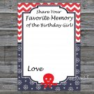 Octopus Favorite Memory of the Birthday Girl,Adult Birthday Game,INSTANT DOWNLOAD--24