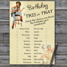 Cowboy themed this or that birthday game,Adult Birthday Game,INSTANT DOWNLOAD--5