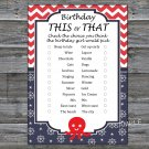 Octopus this or that birthday game,Adult Birthday Game,INSTANT DOWNLOAD--24