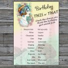 Vintage girl this or that birthday game,Adult Birthday Game,INSTANT DOWNLOAD--36