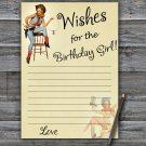 Cowboy themed Wishes for the birthday girl,Wishes Party Game,Adult Birthday Game,INSTANT DOWNLOAD--5
