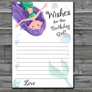 Mermaid Wishes for the birthday girl,Wishes Party Game,Adult Birthday Game,INSTANT DOWNLOAD-12