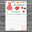 Dress lips Wishes for the birthday girl,Wishes Party Game,Adult Birthday Game,INSTANT DOWNLOAD-18