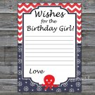 Octopus Wishes for the birthday girl,Wishes Party Game,Adult Birthday Game,INSTANT DOWNLOAD-24