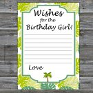 Palm Wishes for the birthday girl,Wishes Party Game,Adult Birthday Game,INSTANT DOWNLOAD-25