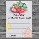 Strawberry Wishes for the birthday girl,Wishes Party Game,Adult Birthday Game,INSTANT DOWNLOAD-33