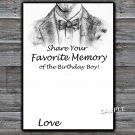 Bow Tie Favorite Memory of the Birthday Boy,Adult Birthday Game,INSTANT DOWNLOAD--46