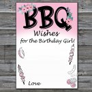 BBQ Wishes for the birthday girl,Adult Birthday Game,INSTANT DOWNLOAD--44