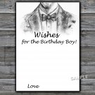 Bow Tie Wishes for the birthday boy,Adult Birthday Game,INSTANT DOWNLOAD--46