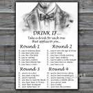 Bow Tie DRINK IF birthday game,Adult Birthday Game,INSTANT DOWNLOAD--46