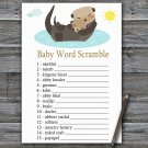 Otter Baby Word Scramble Game,Otter Baby shower games,INSTANT DOWNLOAD--380