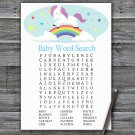 Unicorn Baby Shower Word Search Game,Unicorn Baby shower games,INSTANT DOWNLOAD--379
