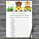 Animal train Baby Animals Name Game,Animal train Baby shower games,INSTANT DOWNLOAD--377