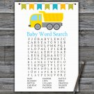 Dump truck Baby Shower Word Search Game,Dump truck Baby shower games,INSTANT DOWNLOAD--376