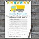 Dump truck Nursery Rhyme Quiz Game,Dump truck Baby shower games,INSTANT DOWNLOAD--376