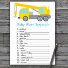 Crane Baby Word Scramble Game,Crane Baby shower games,Crane baby shower,INSTANT DOWNLOAD--374