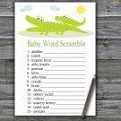 Alligator Baby Word Scramble Game,Alligator Baby shower games,INSTANT DOWNLOAD--373