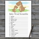Dinosaur Baby Word Scramble Game,T-Rex Baby shower games,INSTANT DOWNLOAD--369