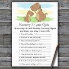 Dinosaur Nursery Rhyme Quiz Game,T-Rex Baby shower games,INSTANT DOWNLOAD--369