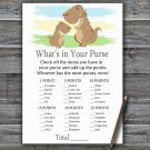 Dinosaur What's In Your Purse Game,T-Rex Baby shower games,INSTANT DOWNLOAD--369