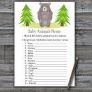 Bear Baby Animals Name Game,Bear Baby shower games,INSTANT DOWNLOAD--368