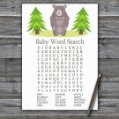 Bear Baby Shower Word Search Game,Bear Baby shower games,INSTANT DOWNLOAD--368
