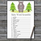 Bear Baby Word Scramble Game,Bear Baby shower games,INSTANT DOWNLOAD--368