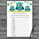 Owl Baby Animals Name Game,Owl Baby shower games,INSTANT DOWNLOAD--367