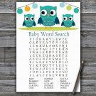 Owl Baby Shower Word Search Game,Owl Baby shower games,INSTANT DOWNLOAD--367